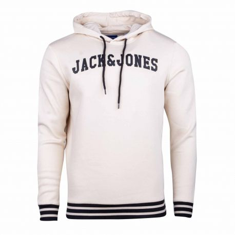Sweat capuche 12195609 Homme JACK & JONES marque pas cher prix dégriffés destockage
