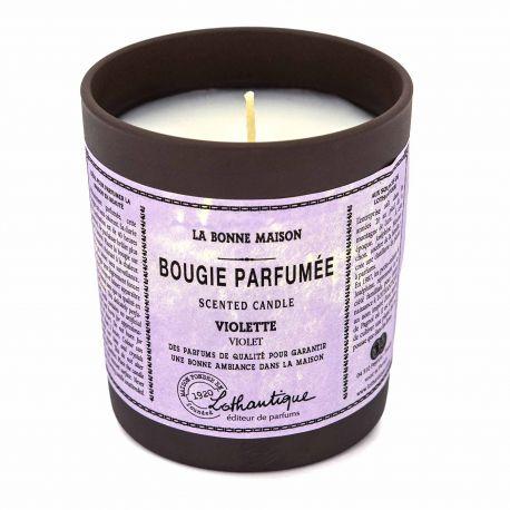 Bougie parfumée violette 160G LOTHANTIQUE marque pas cher prix dégriffés destockage