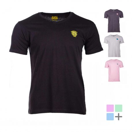 Tee shirt coton manches courtes col V boutons Homme BORN FOR SPORT