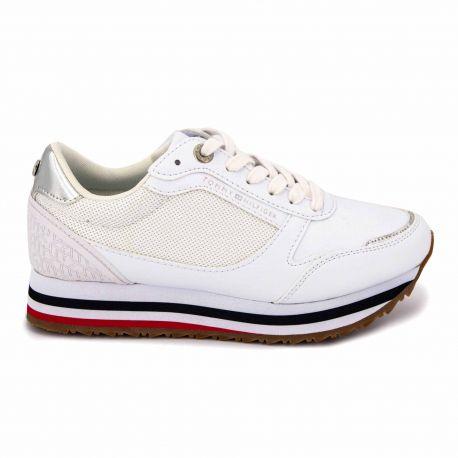 Sneakers white fw0fw04706 t36/42 Femme TOMMY HILFIGER marque pas cher prix dégriffés destockage