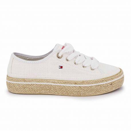 Sneakers white fw0fw04262 t36/41 Femme TOMMY HILFIGER marque pas cher prix dégriffés destockage