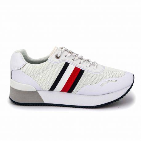 Sneakers white fw0fw04606 t36/41 Femme TOMMY HILFIGER marque pas cher prix dégriffés destockage