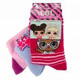 Lot de 3 paires de chaussettes imprimé en coton Enfant LOL