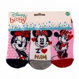 Lot de 3 paires de chaussettes imprimé en coton Minnie baby Enfant DISNEY