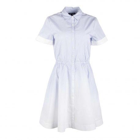 Robe chemise ww0ww22136 Femme TOMMY HILFIGER marque pas cher prix dégriffés destockage