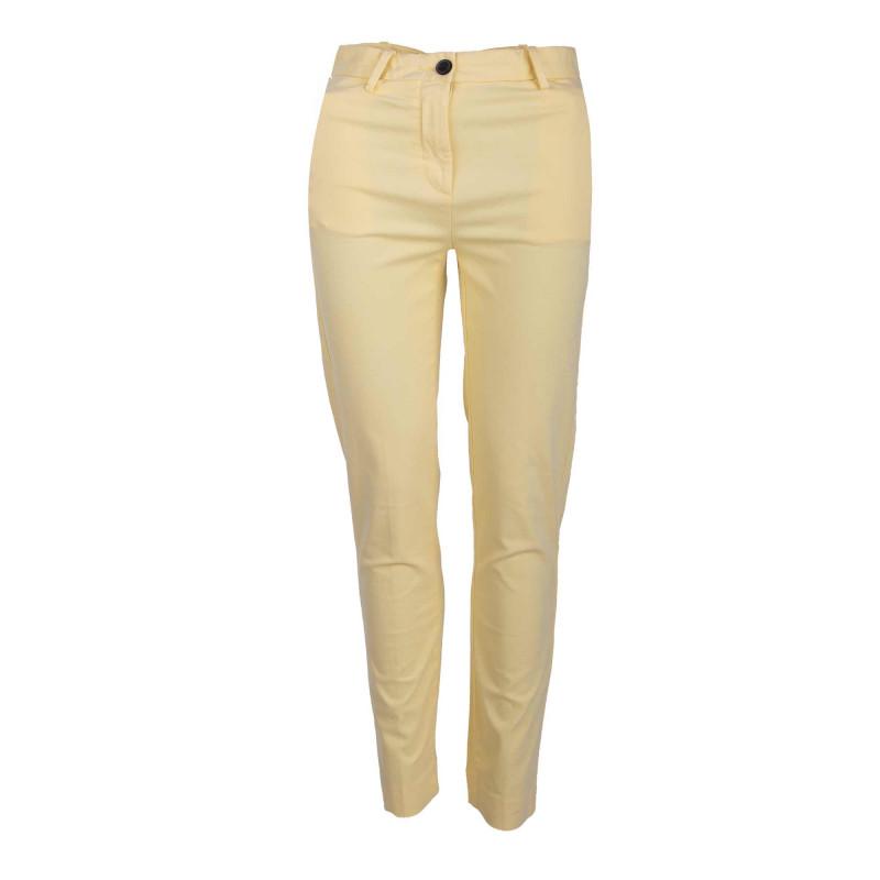 Pantalon chino jaune ww0ww24618 Femme TOMMY HILFIGER marque pas cher prix dégriffés destockage