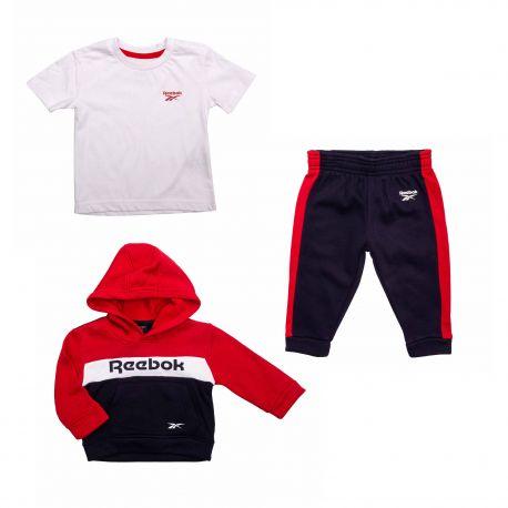 Ensemble 3pcs : jogging haut bas b9728rb Enfant REEBOK marque pas cher prix dégriffés destockage