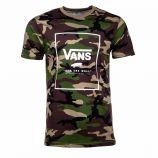 Tee shirt manches courtes imprimé camouflage coton Homme VANS