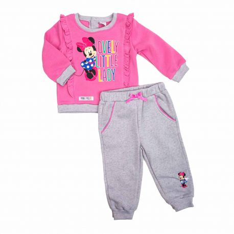 Ensemble jogging minnie bebe 3 a 24 mois dis mf 51128577 Bébé DISNEY marque pas cher prix dégriffés destockage