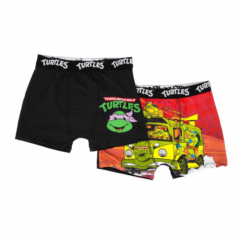 Boxer coton lot x2 tmnt/3/bcx2/ass Enfant NICKELODEON marque pas cher prix dégriffés destockage