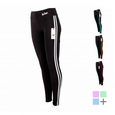 Legging sportswear double bande cote laurette Femme LEE COOPER marque pas cher prix dégriffés destockage