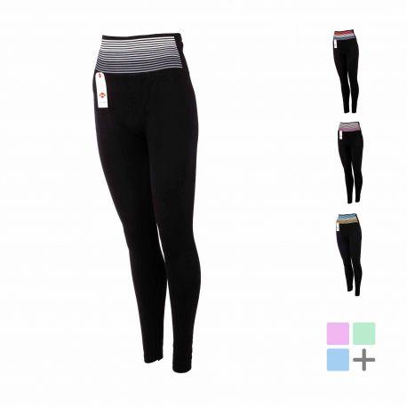 Legging ligela fitness bande couleur Femme LEE COOPER marque pas cher prix dégriffés destockage