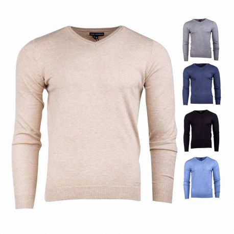 Pull perry col v ml coudiere Homme TED LAPIDUS