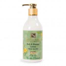 Lotion corps et massage 300ml vanille Health and Beauty marque pas cher prix dégriffés destockage