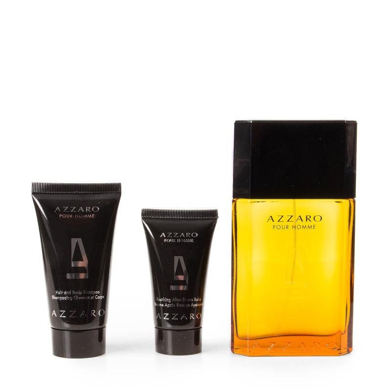 Coffret Parfum Eau de Toilette 100ml & Après rasage 30ml & Shampoing 50ml Homme AZZARO marque pas cher prix dégriffés destockage