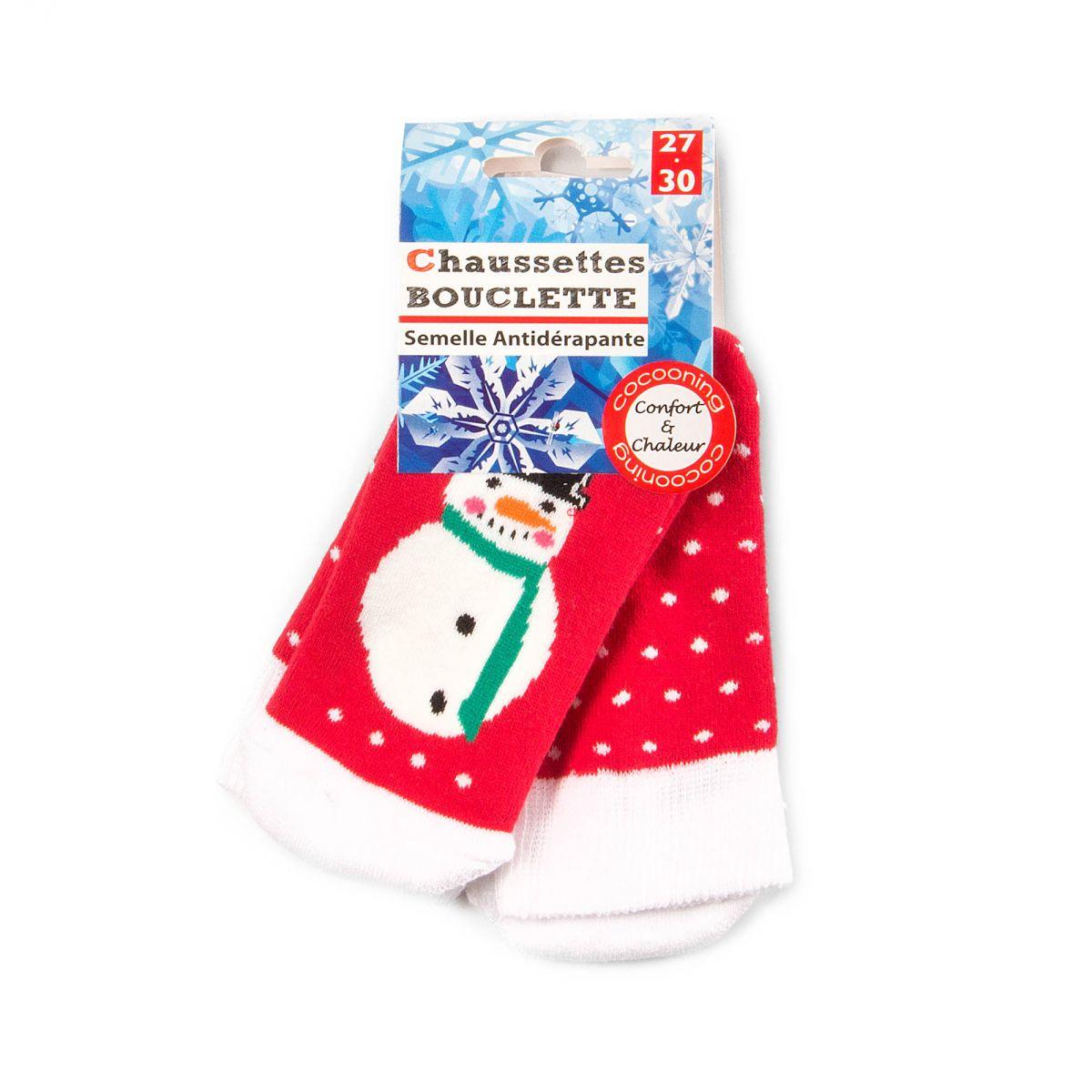 chaussettes rouges et blanches enfant bonhomme de neige prix. Black Bedroom Furniture Sets. Home Design Ideas