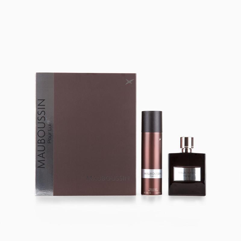 Coffret Eau de parfum 100ML + déodorant 150 ML homme Pour Lui de MAUBOUSSIN marque pas cher prix dégriffés destockage