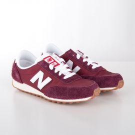 c2bb597f3c2 Baskets sneakers U410BD rouge pourpre femme NEW BALANCE marque pas cher prix  dégriffés destockage