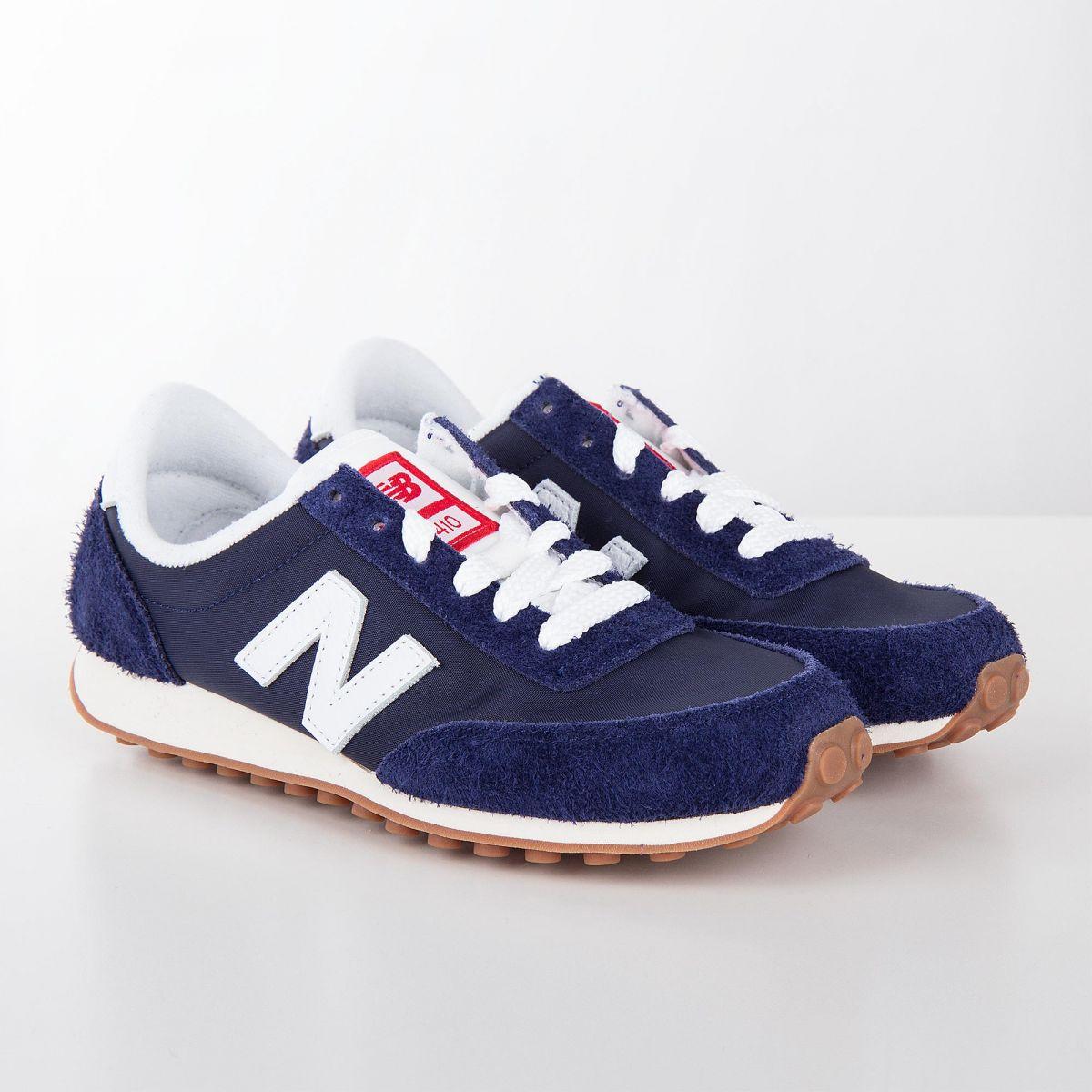 new style 5aa37 9d800 Baskets sneakers U410NY bleu marine enfant NEW BALANCE marque pas cher prix  dégriffés destockage ...