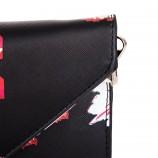 Petit sac simili cuir noir imprimé fleuri femme CHRISTIAN LACROIX marque pas cher prix dégriffés destockage