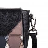 Petit sac simili cuir noir motifs losanges femme CHRISTIAN LACROIX marque pas cher prix dégriffés destockage