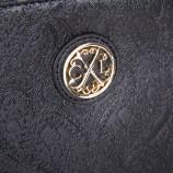 Pochette motifs baroque simili cuir noir femme CHRISTIAN LACROIX marque pas cher prix dégriffés destockage