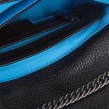 Petit sac simili cuir noir et bleu bandoulière femme CHRISTIAN LACROIX marque pas cher prix dégriffés destockage