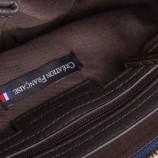 Pochette bandoulière marron zips femme CHRISTIAN LACROIX marque pas cher prix dégriffés destockage