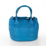 Sac à main bleu motifs floraux femme Christian Lacroix marque pas cher prix dégriffés destockage