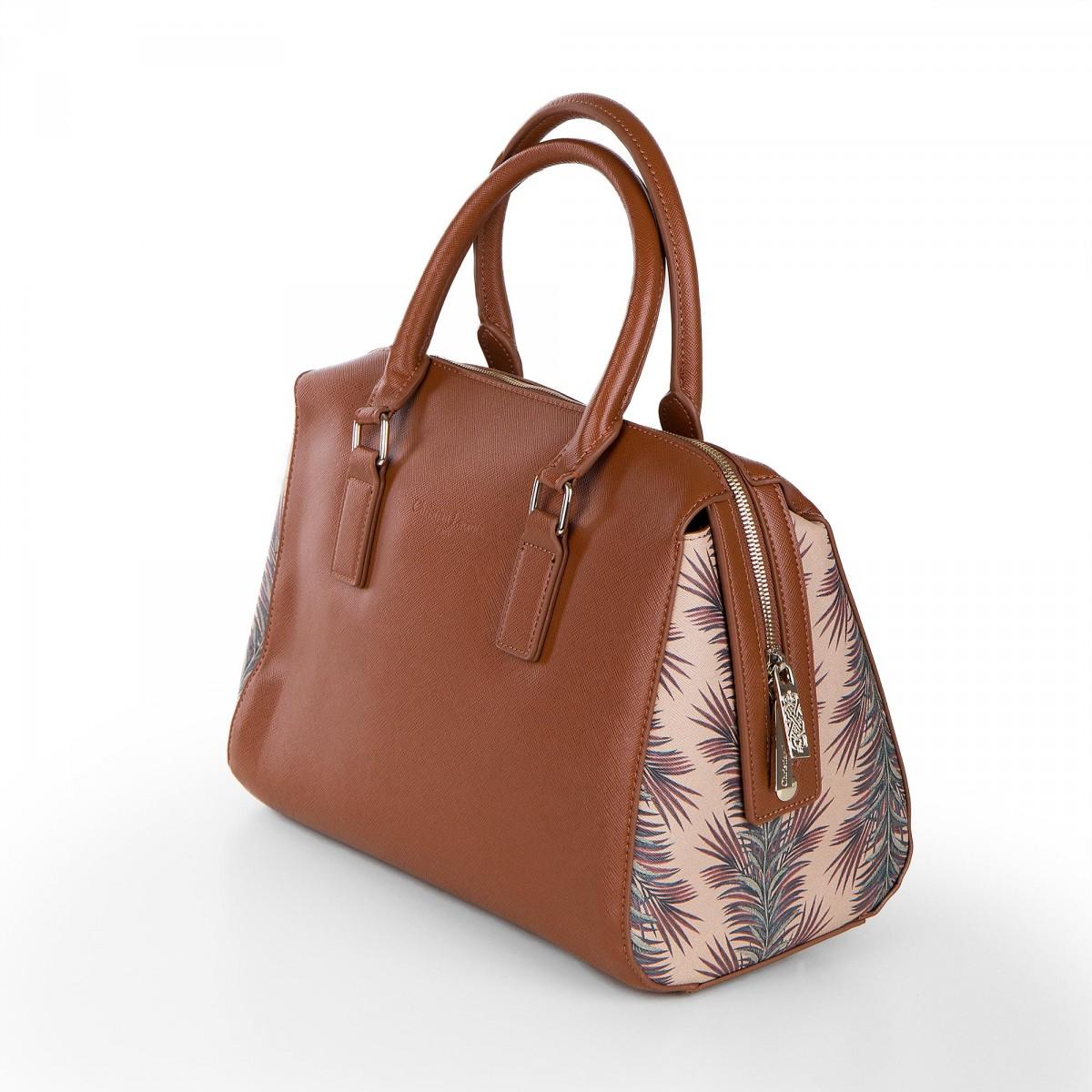 sac bowling camel bleu imprim tropicaux femme christian lacroix. Black Bedroom Furniture Sets. Home Design Ideas