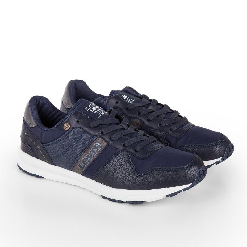 158ec78c842c Soldes Baskets sneackers bimatière bleu homme LEVIS marque pas cher prix  dégriffés destockage