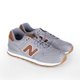 Baskets sneakers ML574TXC gris & marron homme NEW BALANCE marque pas cher prix dégriffés destockage