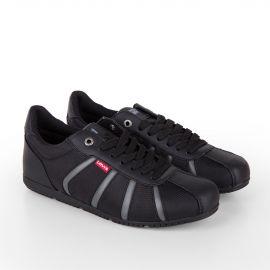 Baskets sneakers noir homme LEVIS marque pas cher prix dégriffés destockage