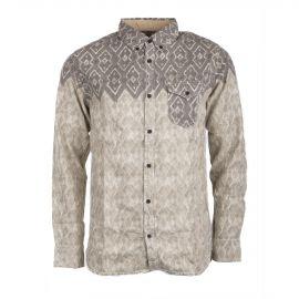 Chemise Manches longues grise à motif Homme BURTON marque pas cher prix dégriffés destockage