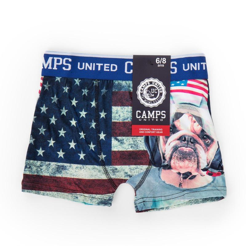 Boxer drapeau américain enfant CAMPS UNITED marque pas cher prix dégriffés destockage