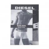 Lot de 2 boxers gris/noir homme DIESEL marque pas cher prix dégriffés destockage