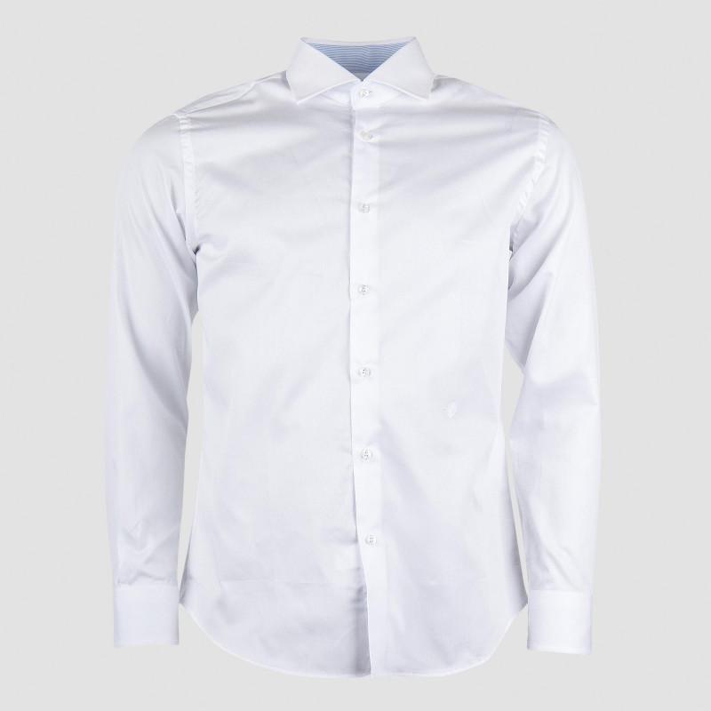 Chemise blanche unie homme TRU TRUSSARDI marque pas cher prix dégriffés destockage