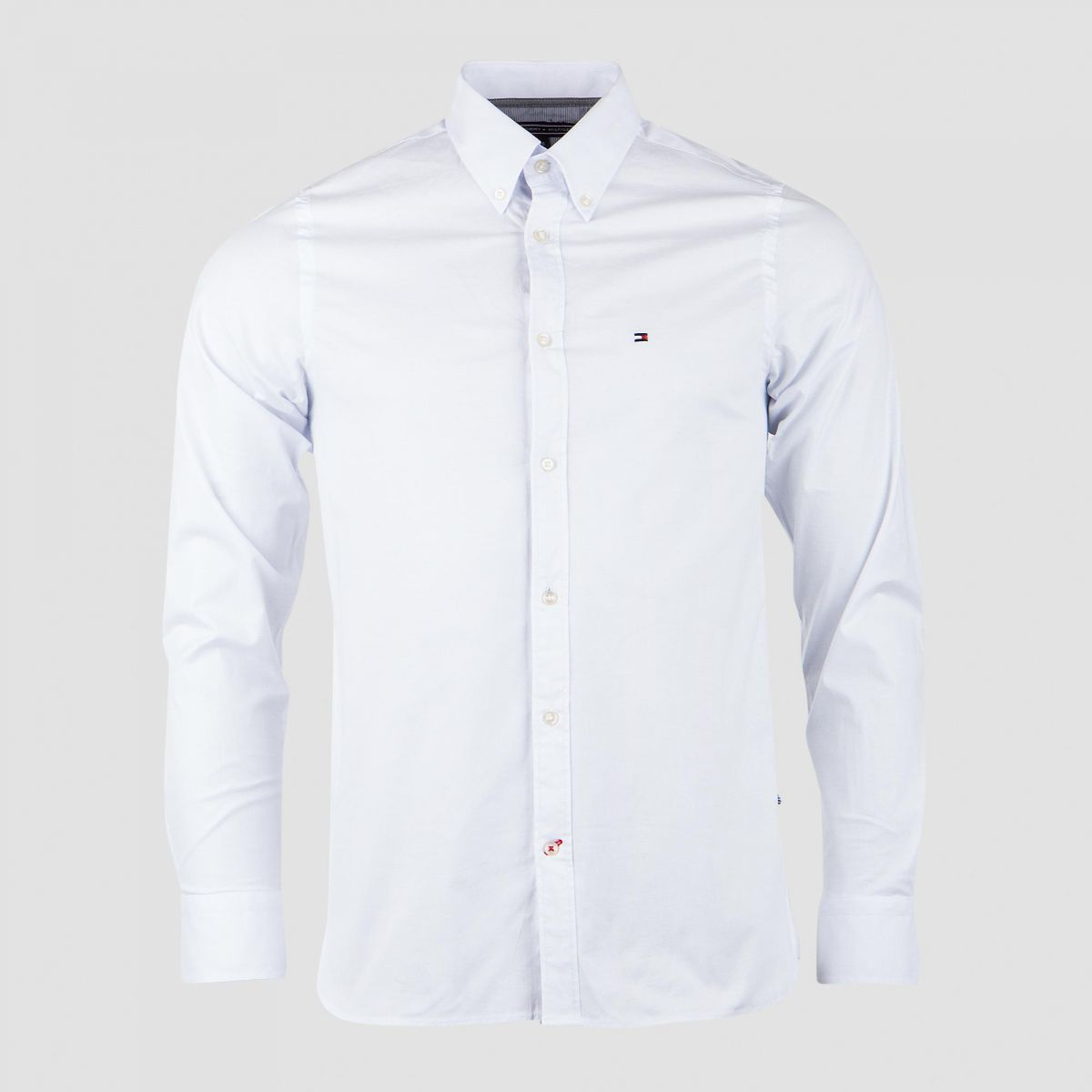 Chemise Manches Longues blanche homme Tommy