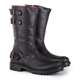 Boots noires femme KICKERS marque pas cher prix dégriffés destockage