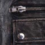 Blouson en cuir noir délavé homme DEEPEND marque pas cher prix dégriffés destockage