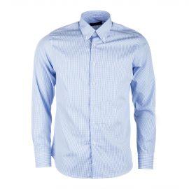 Chemise à carreaux bleus et blanc homme TRUSSARDI