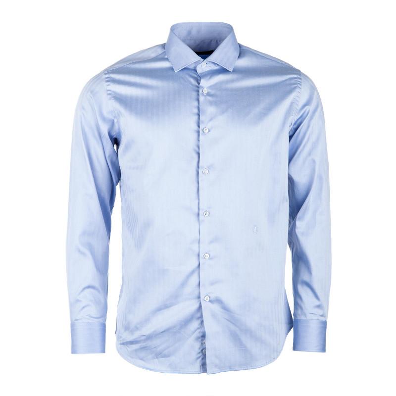 Chemise rayée bleue homme TRUSSARDI marque pas cher prix dégriffés destockage