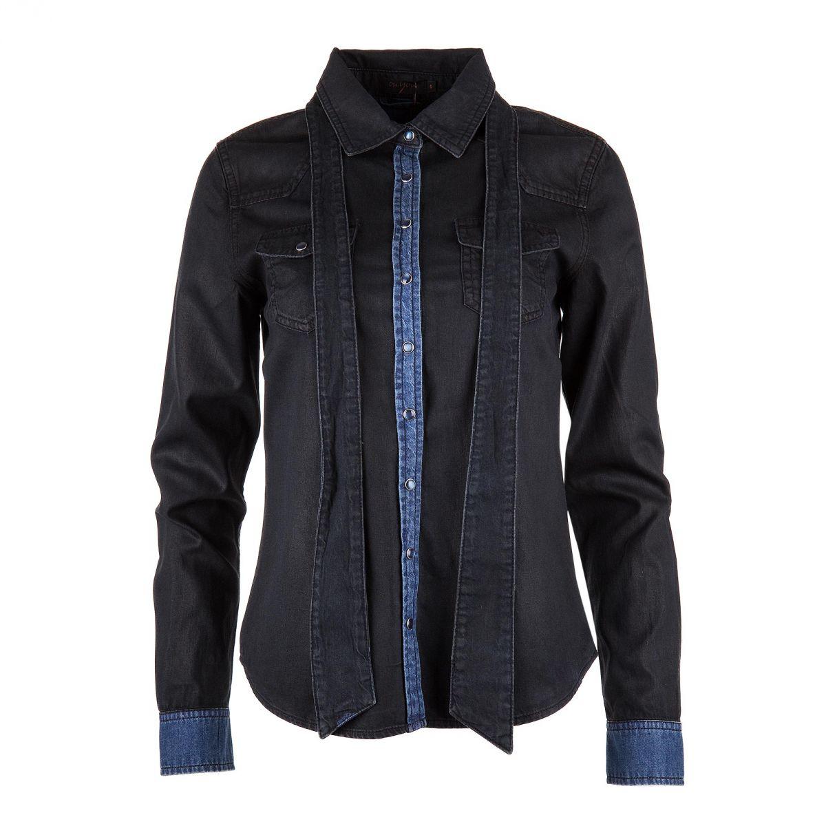 chemise en jean femme on you prix d griff. Black Bedroom Furniture Sets. Home Design Ideas
