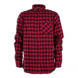 Chemise à carreaux rouge et noire garçon BEST MOUNTAIN marque pas cher prix dégriffés destockage