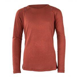 T-shirt à manches longues rouille fille BEST MOUNTAIN marque pas cher prix dégriffés destockage