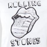 T-shirt à manches courtes blanc imprimé Rolling Stones homme ARTISTS marque pas cher prix dégriffés destockage