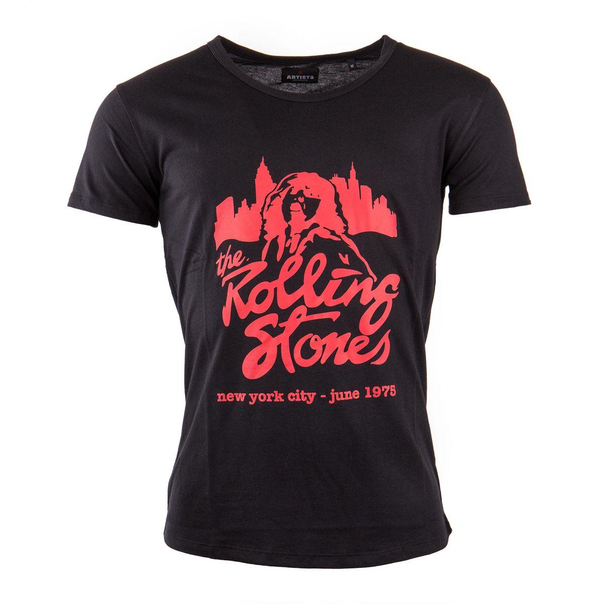 t shirt manches courtes noir the rolling stones homme artists prix. Black Bedroom Furniture Sets. Home Design Ideas