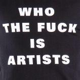 T-shirt à manches courtes noir Who the fuck is artists homme ARTISTS marque pas cher prix dégriffés destockage