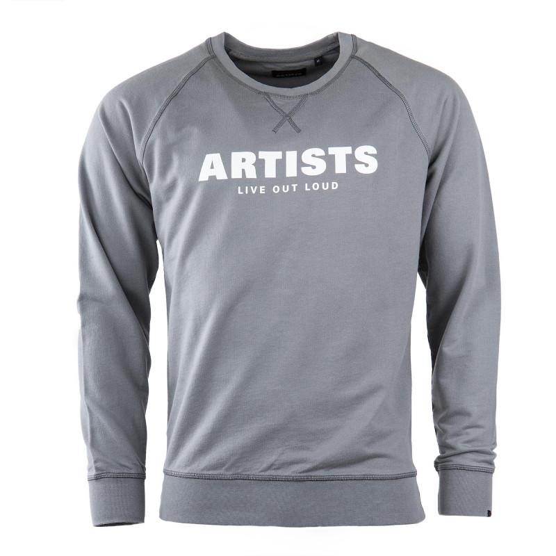 Sweat gris Live out Loud homme ARTISTS marque pas cher prix dégriffés destockage