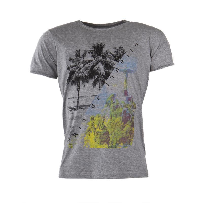 T-shirt manches courtes coton Rio de Janeiro homme BEST MOUNTAIN marque pas cher prix dégriffés destockage